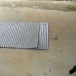 Used mini-orb galvanised iron sheets.