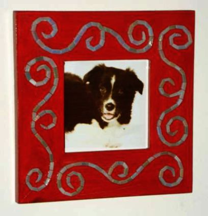 """Remembrance"" mosaic picture frame"