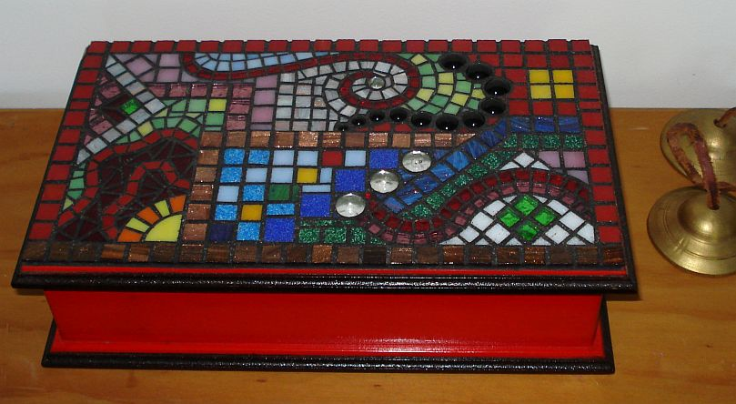 """Flow Dreaming"" mosaic box"