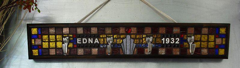 """1932"" Art Deco style mosaic coat rack"