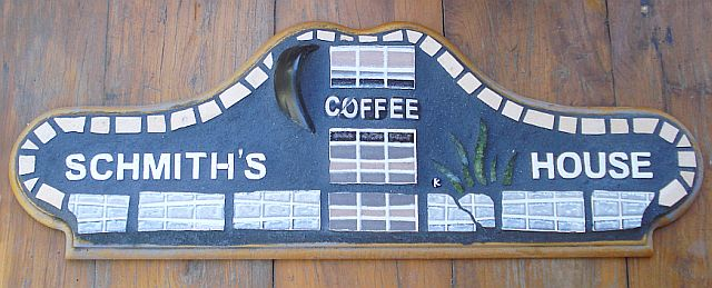 """Coffee"" mosaic plaque"