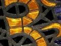"""Om"" mosaic drink coaster"