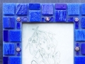"""Primary Colour Mosaic Triptych, Blue"""