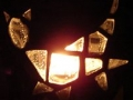 """White Cat"" mosaic tea light candle holder"