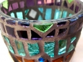 """Naquada"" mosaic tea light candle holder"