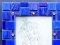 """Primary Colour Mosaic Triptych, Blue"""