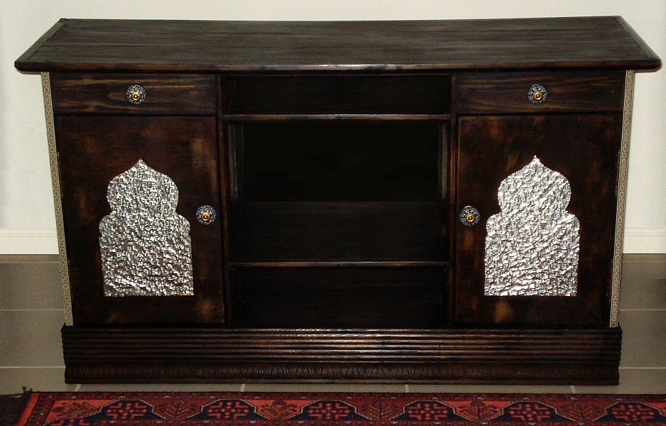 Moroccan-style entertainment cabinet